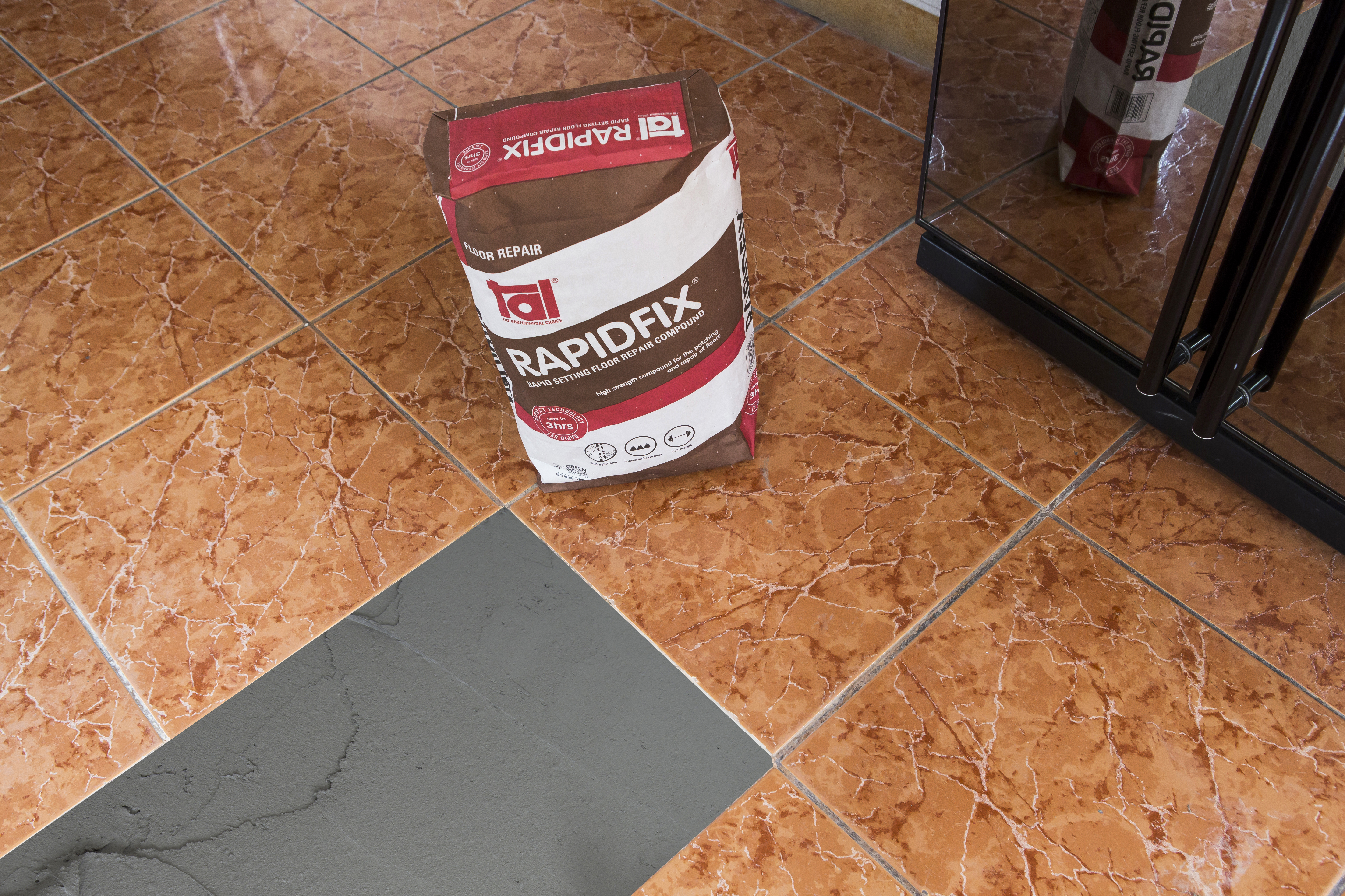 How to tile over existing tiles successfully tal rapidfix a rapid setting patching and repair compound can be used to fill up these areas so that they are level with the surrounding tiles doublecrazyfo Image collections