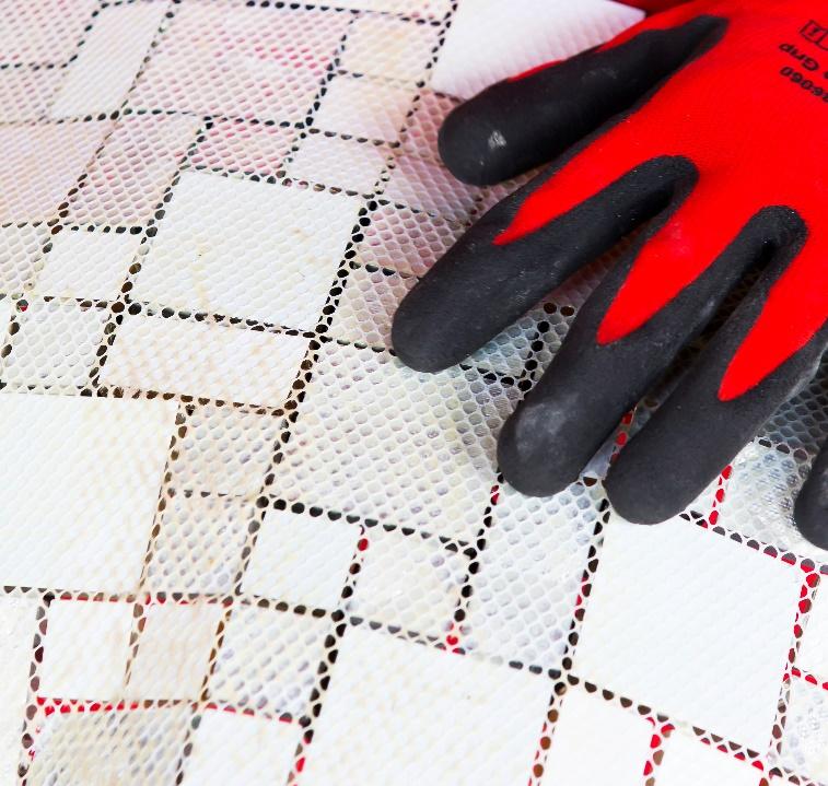 Install Gl Mosaics Onto A Shower Floor